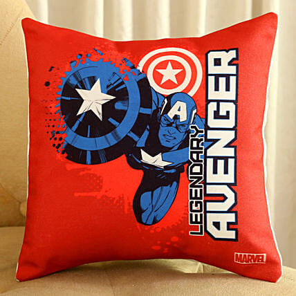 Marvel Captain America Cushion Hand Delivery:Disney Gifts