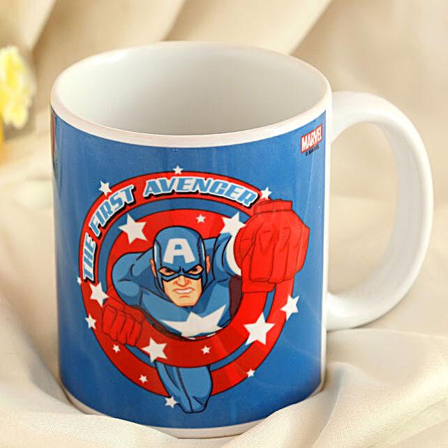 Marvel Captain America Mug Hand Delivery
