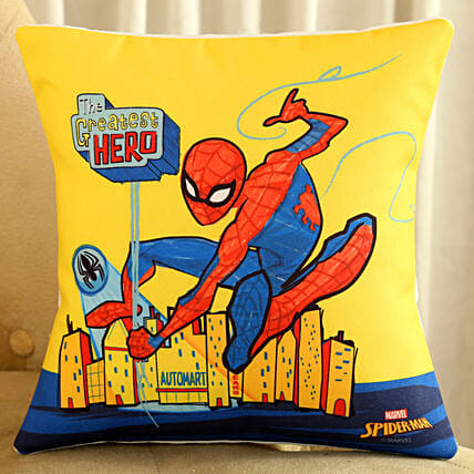 Marvel Greatest Hero Spiderman Cushion Hand Delivery