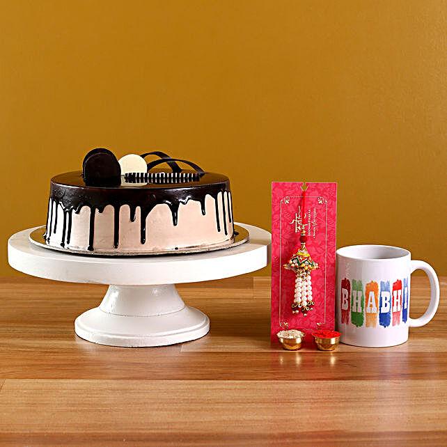 Pearl Lumba N Chocolate Cake With Bhabhi Mug