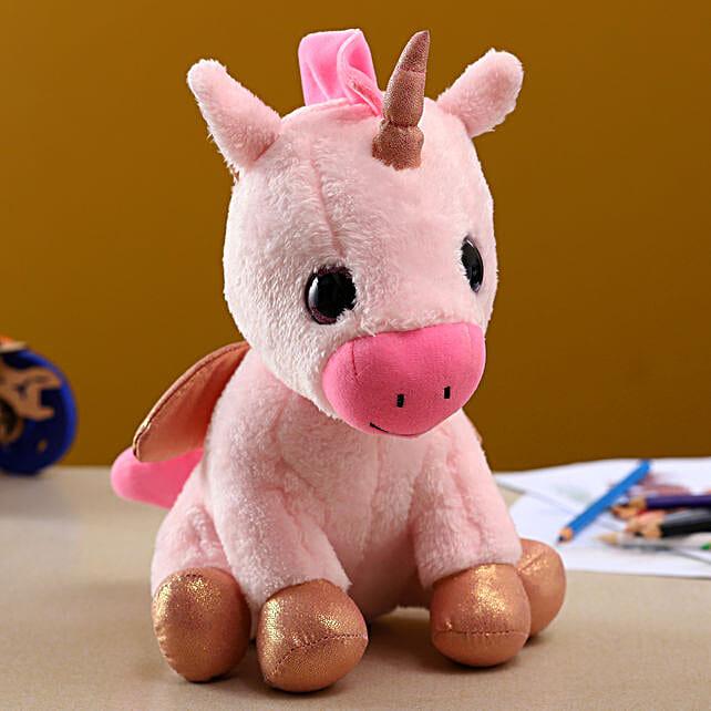 Mirada Glitter Horn Unicorn Soft Toy