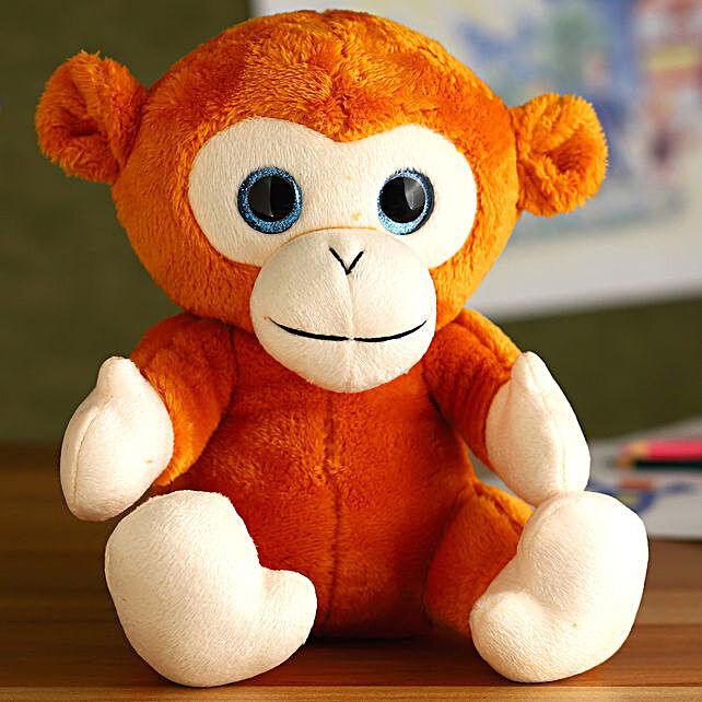 Mirada Light Brown Glitter Eye Monkey Soft Toy:Soft Toy