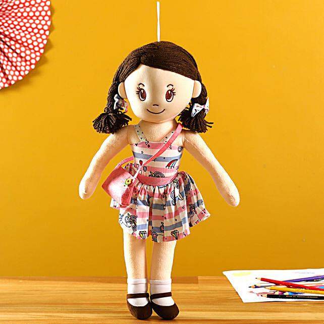 Mirada Unicorn Theme Dress Crossbody Bag Doll:Soft Toys