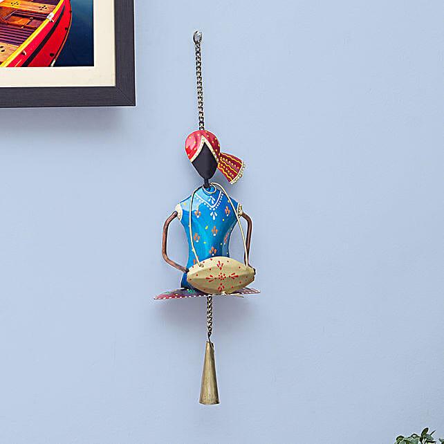Multicoloured Turban Musician Wall Hanging