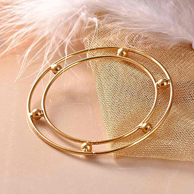 Gold and Silver Polished Bracelet
