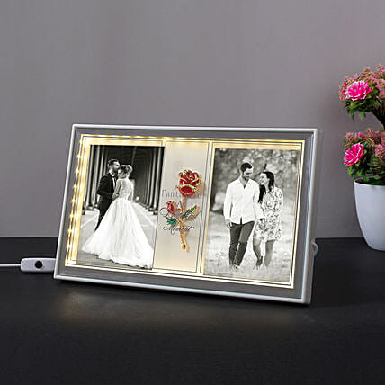 Personalised 2 In 1 LED Photo Frame