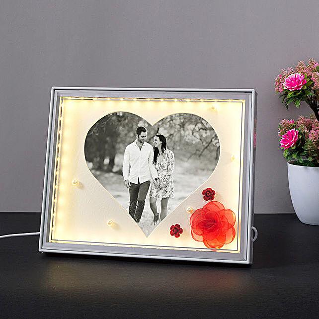 Personalised Heart Shaped LED Photo Frame