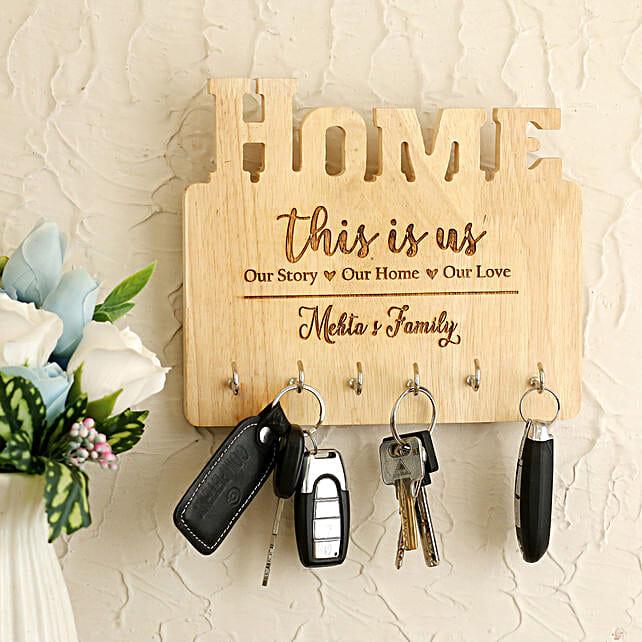 Personalised Home Key Holder:Personalised Engraved