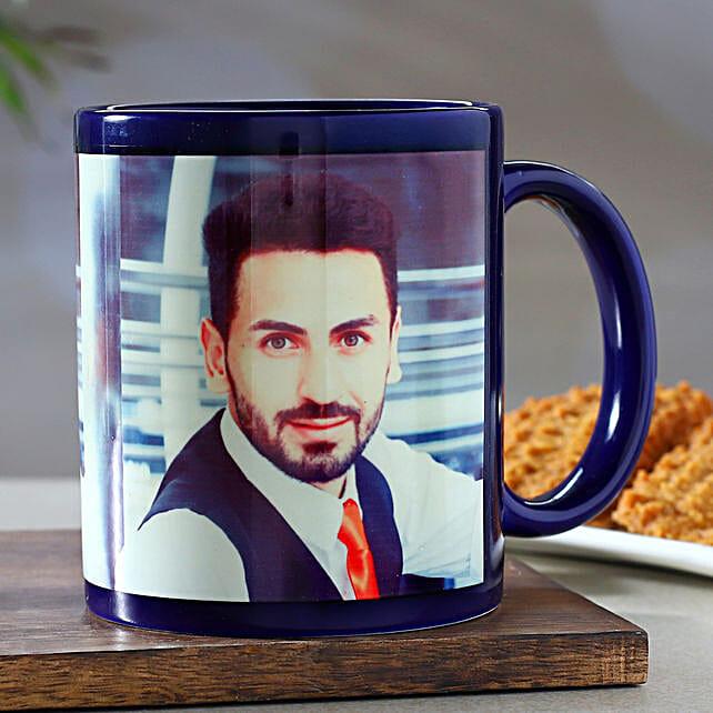 Personalised Blue Mug:Customised Coffee Mug