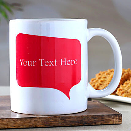 Personalised Message White Mug- Hand Delivery