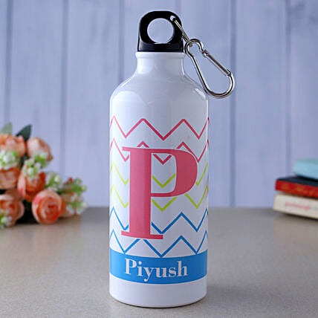 Personalised Zig Zag Water Bottle