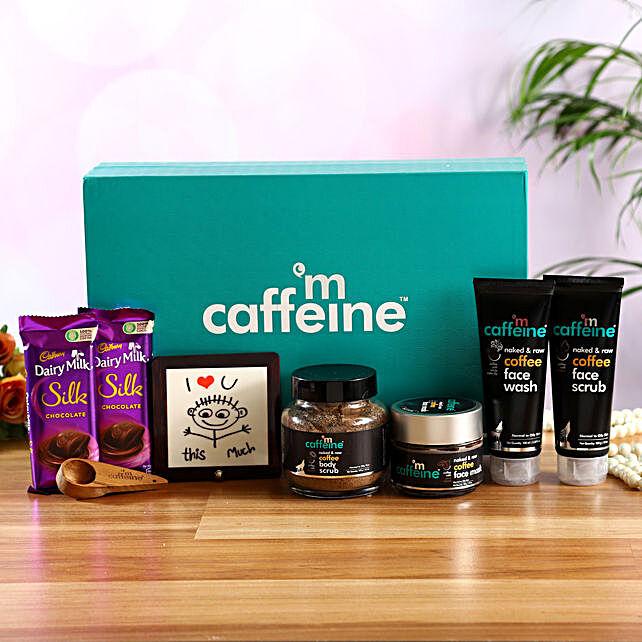 mcaffeine Coffee Mood Kit With Table Top & Cadbury Silk