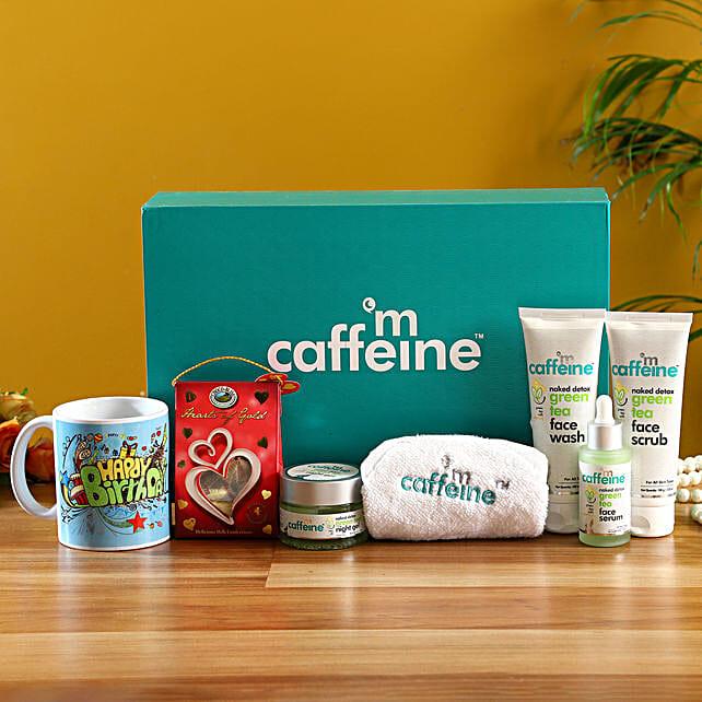 mcaffeine Green Tea Detox Kit With Birthday Mug & Chocolates
