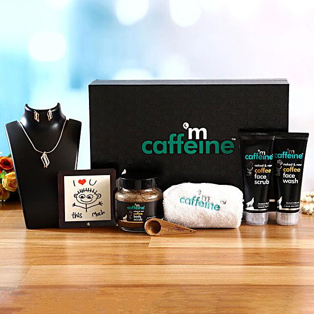 mcaffeine Skincare Kit With Necklace & Luv U Table Top