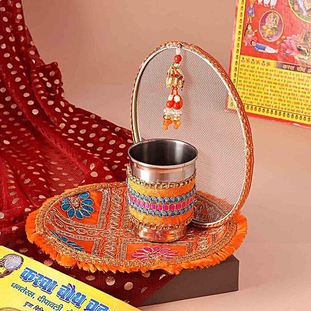 Karwa Chauth Special Thali Set:Karwa Chauth Thali