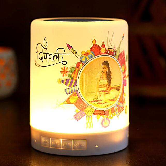 Personalised Diwali Theme LED Speaker:Personalized Diwali Gifts