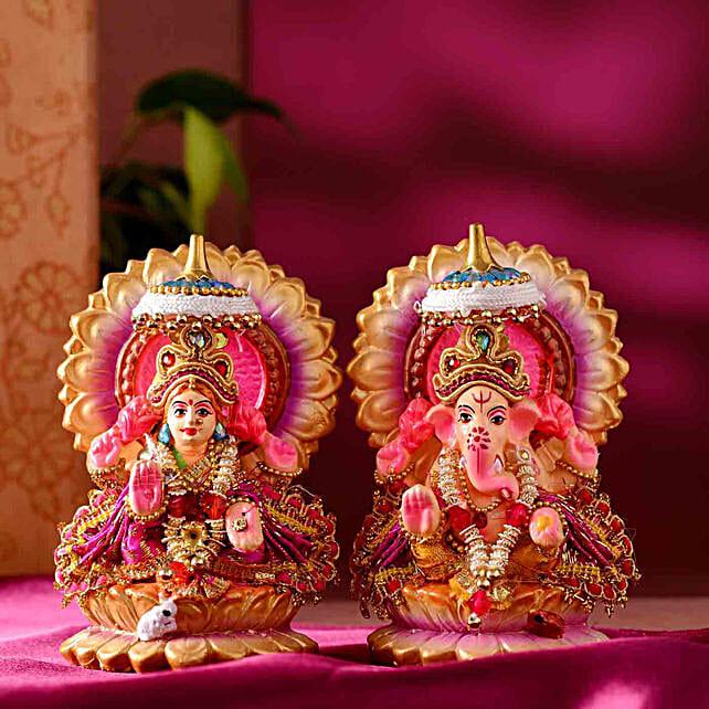 Traditional Lakshmi Ganesha Idol Set