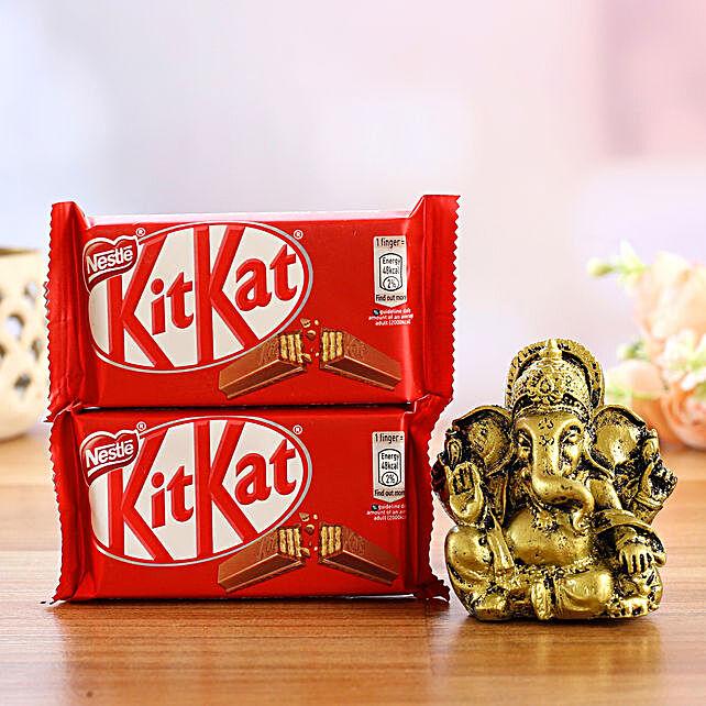 Antique Ganesha Idol and Sweet Chocolates