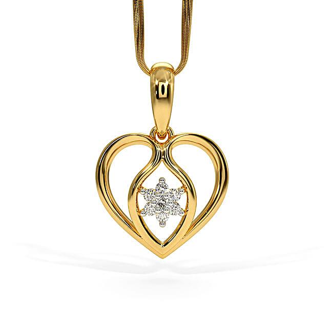 Bluestone Gold & Diamond Verna Pendant
