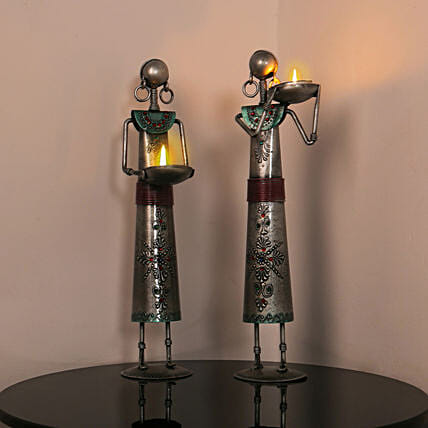 Tribal Antique Tealight Candle Holders