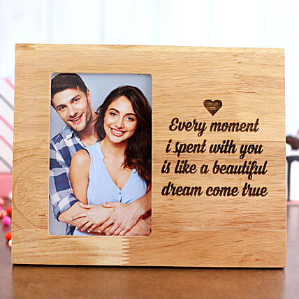 Personalised Beautiful Moments Photo Frame:Personalised Engraved