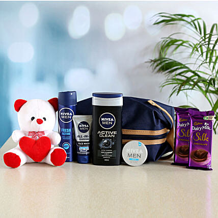 Nivea Men Grooming Combo With Teddy and Silk Chocolate