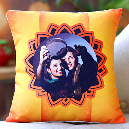 Karwa Chauth Special Personalised Cushion Hand Delivery