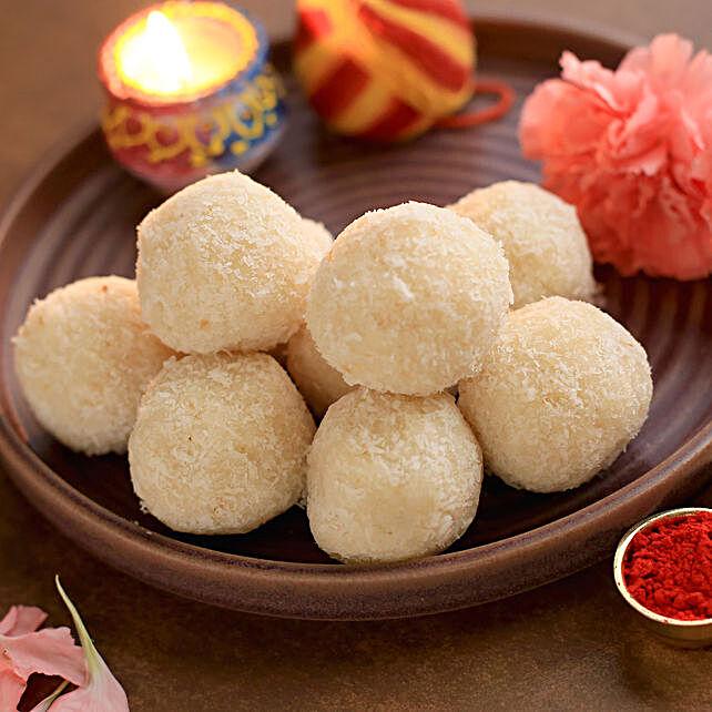 Sugar Free Coconut Laddoos- 9 Pcs-Hand Delivery