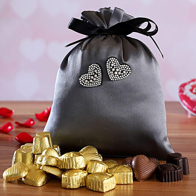 valentine assorted chocolates in potli