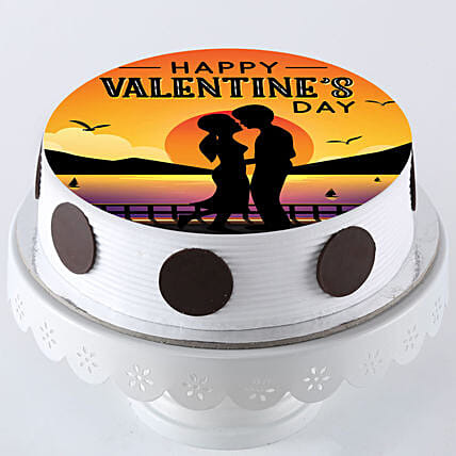 happy valentine printed cake online