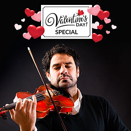 Valentines Day Special Violinist On Video Call