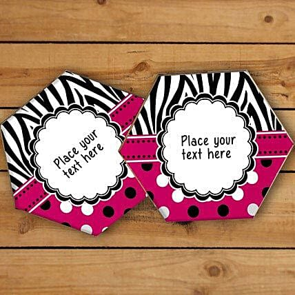 Vibrant Personalized Coasters-Red and balck personalized coasters,4 size 3.3x3.3:Coasters Gifts