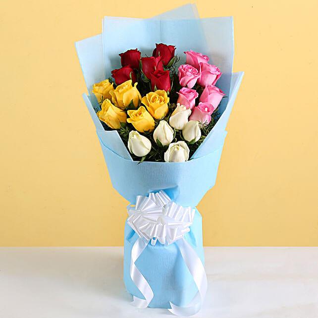 Multicolour Flower Bouquet For Her:Congratulations Flower Bouquet
