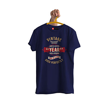 Online Vintage Limited Edition Personalised Tshirt:Send Personalised Tee Shirts