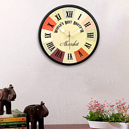 personalised wall clock for brother