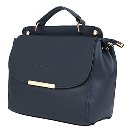 Vivinkaa Leatherette Flap Compartment Sling Navy:Handbags and Wallets Gifts