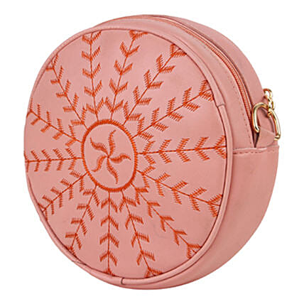 Vivinkaa Round Embroidered Pink Sling