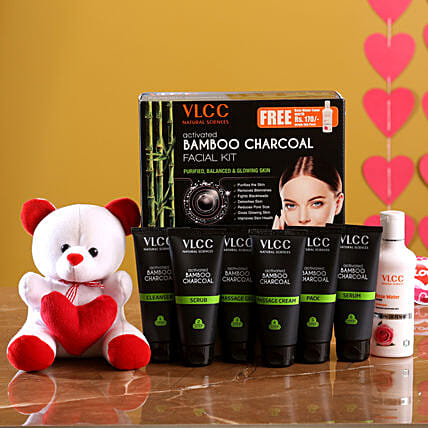 VLCC Bamboo Charcoal Kit And Cute Teddy