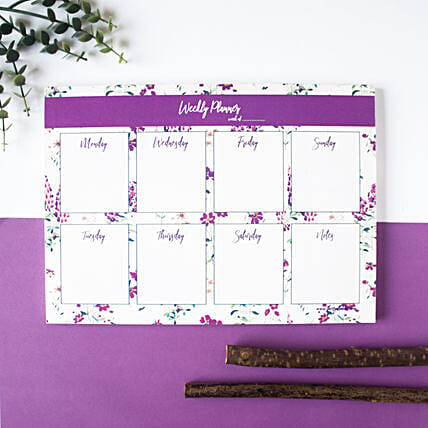 Wallflower Weekly Planner Lavender:Stationery Gifts