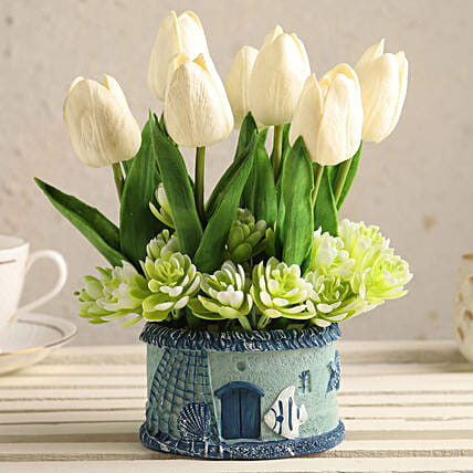 Artificial Tulips with Pot Online