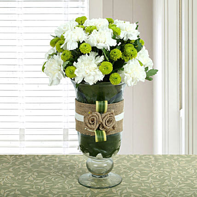 White Carnations Arrangement