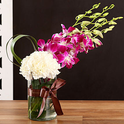 Online White Carnations and Orchids