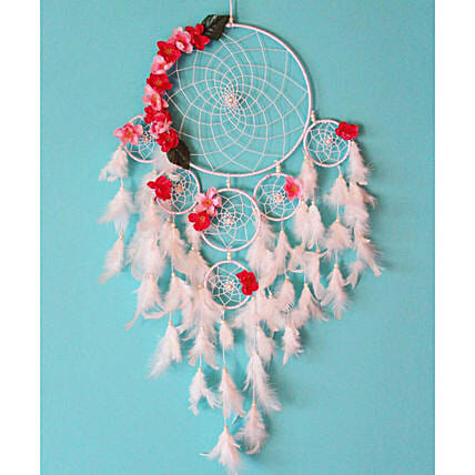 White floral dreamcatcher Buy:Dream Catchers
