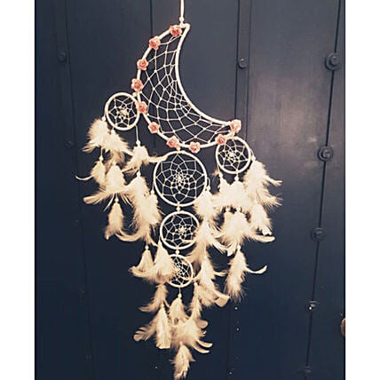 white moon dreamcatcher decorrative