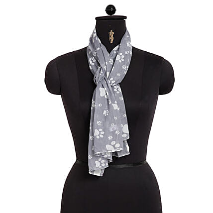 Paw Printed Women Scarf Online:Scarves And Stoles