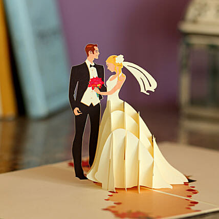 Online Wedding Pop Up Card
