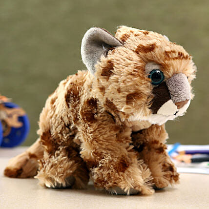 Wild Republic Brown Plush Cougar Soft Toy:Soft Toys for Kids