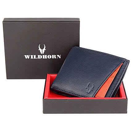 Wildhorn Classic Wallet Blue:Leather Gifts