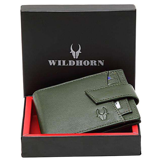 Wildhorn Green Leather Wallet