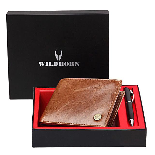 Wildhorn Leather Mens Wallet Set Tan